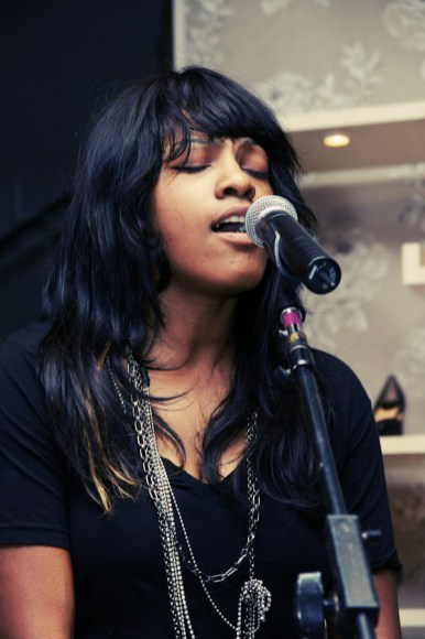 Angel Taylor performs at Cole Haan Boutique