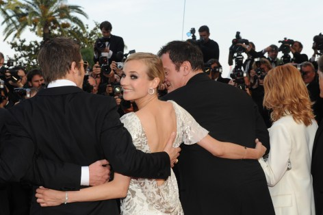 Actress Diane Kruger,wearing a 101 Feuille Jaeger-LeCoultre watch, attends the Inglourious Basterds Premiere