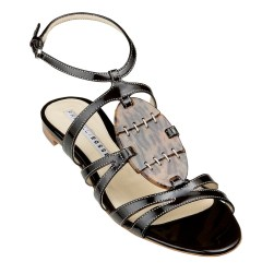 Fratelli Rossetti leather sandal with tortoiseshell detail, $490