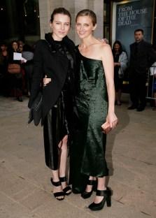 Dree Hemingway and Amanda Brooks in Calvin Klein