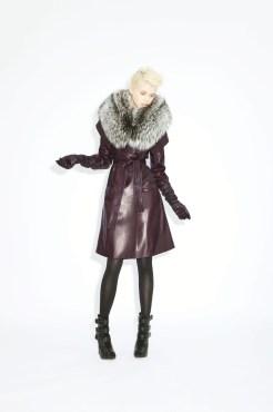 Coat Eugenia Lamb skin _ double fox collar