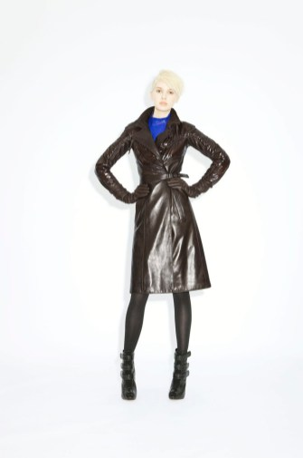 Coat Lana Leather _ Fabric