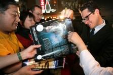 Director J. J. Abrams signs autographs for fans