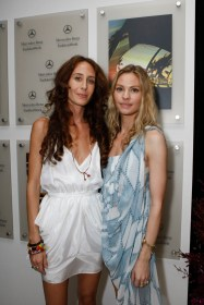 Mara Hoffman (L) and Klee van Schoonhoven during Mercedes-Benz Fashion Week Swim 2010