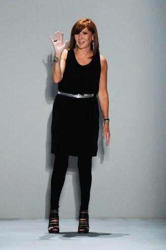 Designer Nicole Miller on the runway