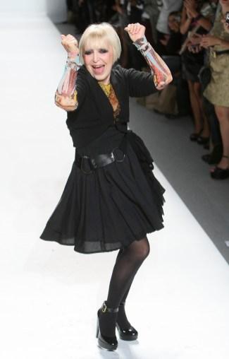 Designer Kati Stern on the runway Spring 2010 New York