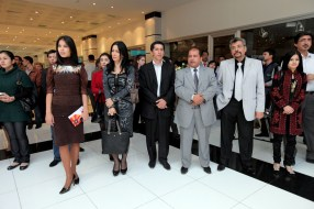 Guests during the Akmal Nur Exhibition opening