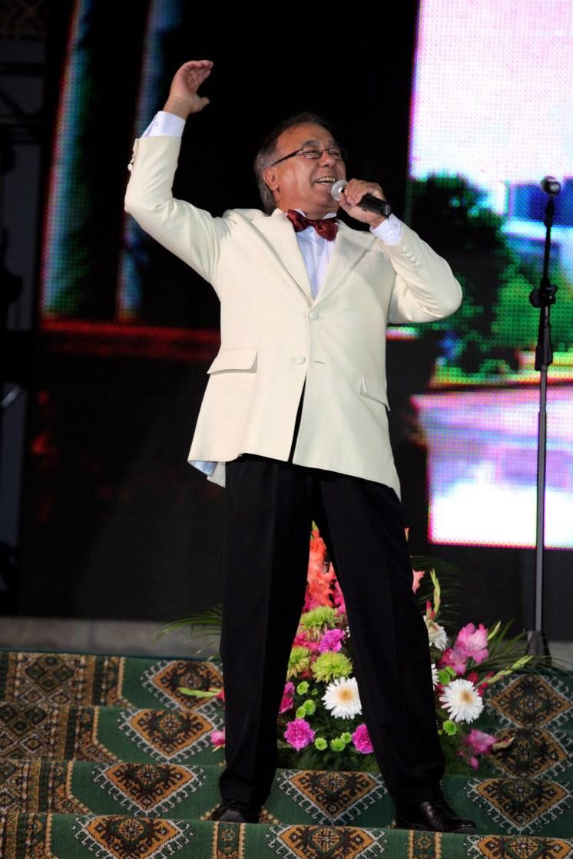 Uzbec singer Mansour Tashmator