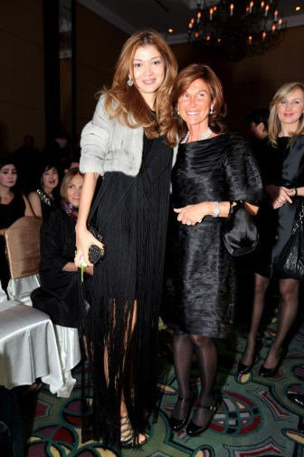 (L-R) H.E.Dr.Gulnara Karimova Chairwoman of the Board of Trustees, Fund Forum;Sylvie Rousseau General Manager Christian Dior