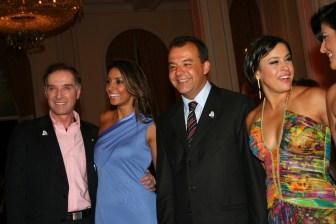 Eike Batista,Governor Sergio Cabral and Adriana Ancelmo