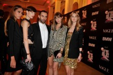 Ricardo Tisci with models