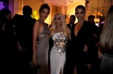 Alessandra Ambrosio, Donatella Versace and Fernanda Mota