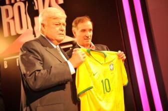 Eike Batista with CBF´s president Ricardo Teixeira