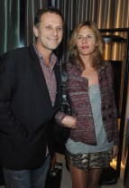 Charles Berling (L) and his wife actress Camille Japy