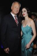 President of Montblanc Lutz Bethge poses with Eva Green