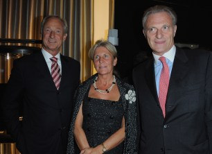 Lutz Bethge with Mr and Mrs Alain Flammarion