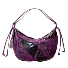 Faux-Snakeskin Collage Hobo in Purple, $19.99, Target.com only
