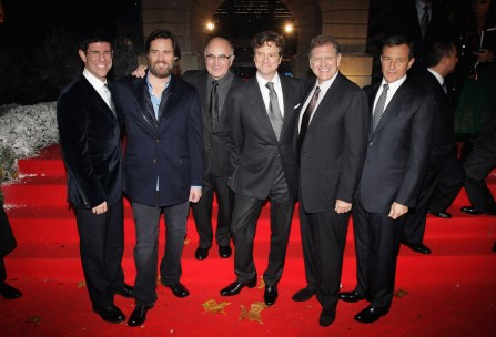 Rich Ross, Jim Carrey, Bob Hoskins, Colin Firth, Robert Zemeckis and Bob Iger