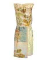 Martin Margiela Artisinal - vintage handpainted oil canvasses as a dress