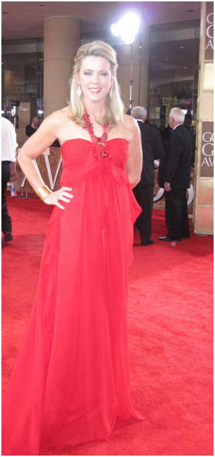 Deborah Norville wearing Slane & Slane jewelry