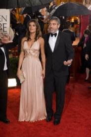 George Clooney and Elisabetta Canalis in Roberto Cavalli