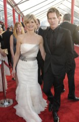 Kyra Sedgwick in Vera Wang and Kevin Bacon