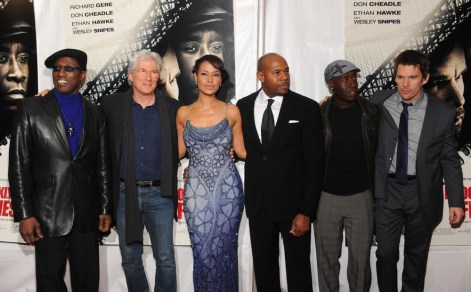 Wesley Snipes, Richard Gere, Shannon Kane, Director Antoine Fuqua, Don Cheadle and Ethan Hawke