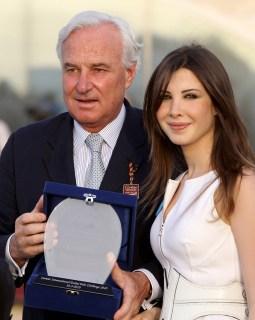 Cartier CEO Bernard Fornas and Lebanese Singer and Unicef ambassadeur Nancy Ajram