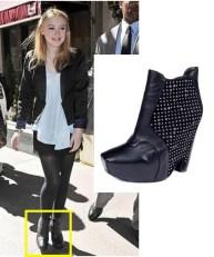 Dakota Fanning wearing Sam Edelman shoes