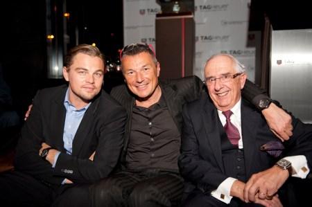 Leonardo DiCaprio, Jack Heuer and Jean-Christophe Babin