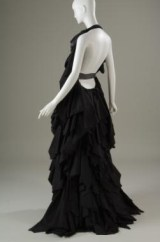 NOIR, multilayered evening gown