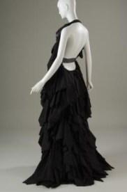 NOIR, multilayered evening gown