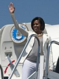 Michelle Obama wearing Monique Pean Jewelry