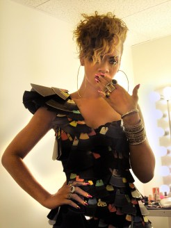 RIhanna in Pink with Golden Moons Minx by Kimmie Kyees