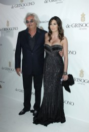 Flavio Briatore (L) and Elisabetta Gregorac