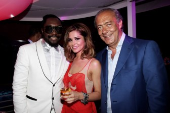 Will I am, Cheryl Cole and Fawaz Gruosi
