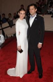 Diane Kruger and Joshua Jackson both in Calvin Klein Collection