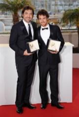 Javier Bardem (L) and Elio Germano