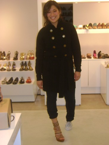 Jenna Ushkowitz visits Nine West