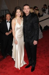 Jessica Biel (in Ralph Lauren Collection) and Justin Timberlake