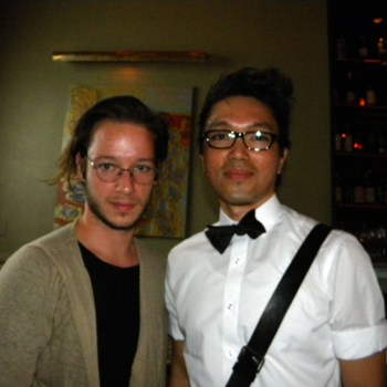 Damir Doma (left) with JJ Hernandez (right)