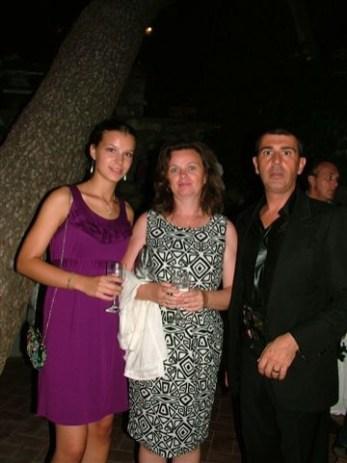 Capri - Lo stilista Michele Miglionico e la Top Model- attrice Camilla Sjoberg