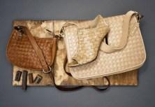 Heritage Weave Simona Crossbody ($228); Air Cassandra Weave Bootie ($398); Heritage Weave Hadley Messenger ($378)