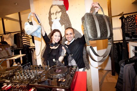 Dj Abeille and founder of Matt & Nat, Inder Bedi