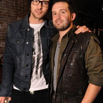 Justin Timberlake (L) and Trace Ayala