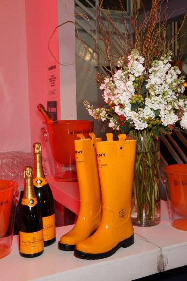 DKNY for Veuve Clicquot boots