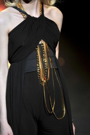 GWEN STEFANI SHOWING THE FALL 2011 COLLECTION OF HER FASHION LABEL L.A.M.B. AT THE LINCOLN CENTER IN NY