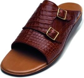 Dubai sandal - medium brown crocodileLD