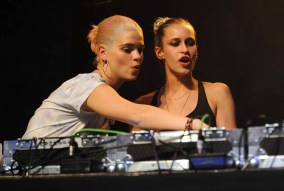 Alice Dellal and Pixie Geldof