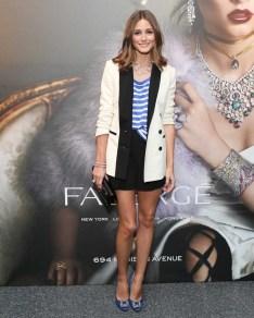 Olivia Palermo wearing Faberge jewellery